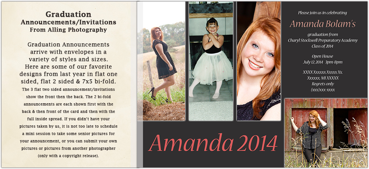 Graduation Announcements Alling Photography – Graduation Announcements and Invitations