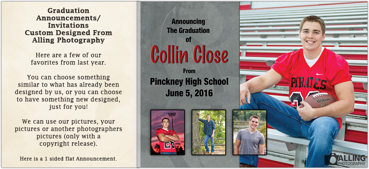 Time to order graduation announcements alling photography we at alling photography have our own in house graphic design team so we can provide the perfect customized graduation announcementopen house invitations filmwisefo